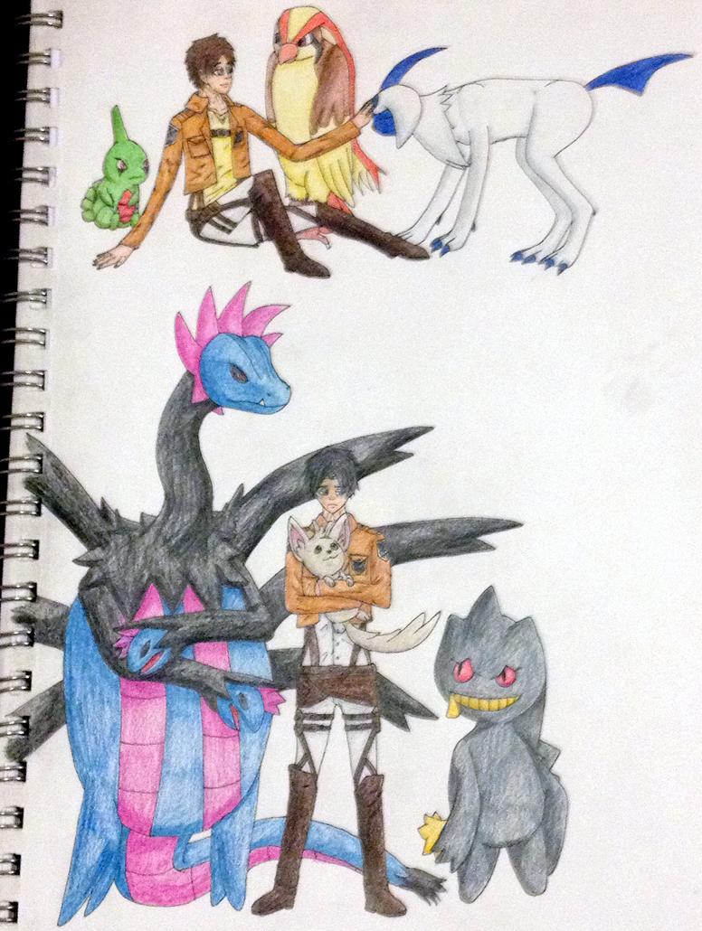Attack On Titan Pokemon Doublade Eren and Levi- Pokemon...