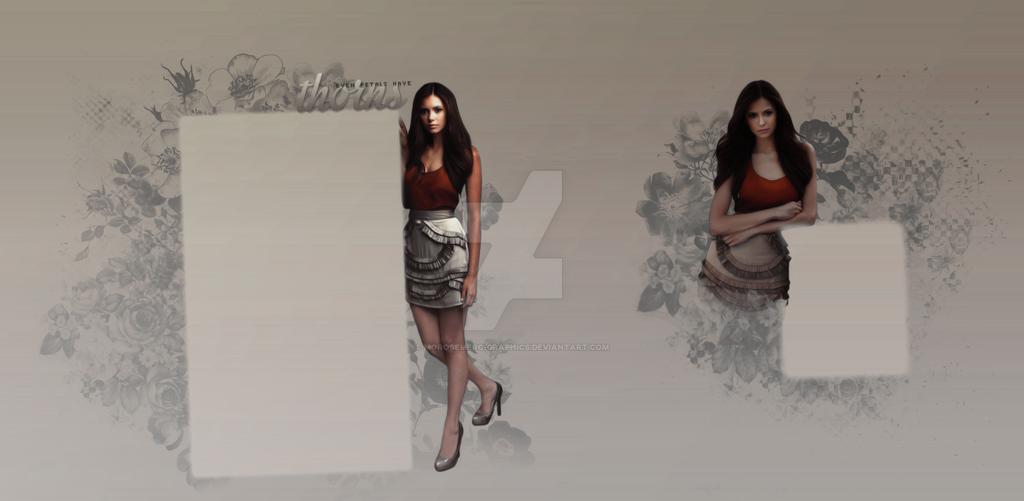 Tumblr Background for theme - Nina Dobrev3 by morosemerc