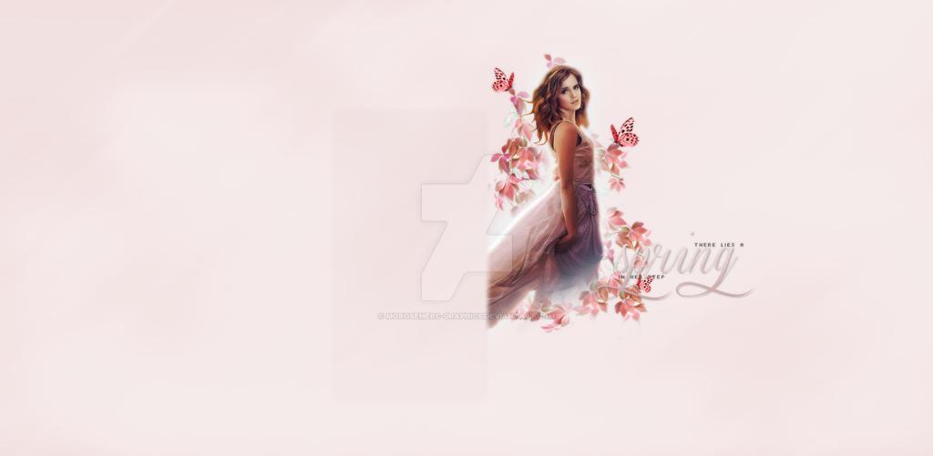 Tumblr Background for theme - Emma Watson by morosemerc-graphics on