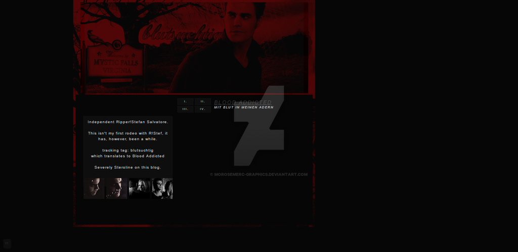 Tumblr Theme Background - Paul Wesley by morosemerc-graphics on
