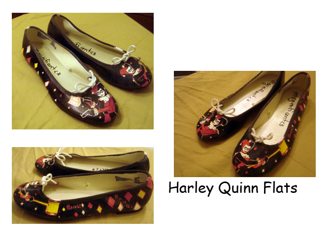 Harley Quinn Flats By Meg-Nificent On DeviantArt