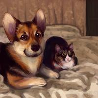 Two good boys by Mothka