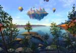 Fantasy landscape study
