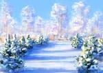 Winter landscape study