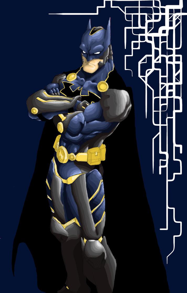 tincan21 Futuristic Batman by Jarrett-Ervin