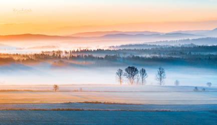 Cold January Sunrise in Poland