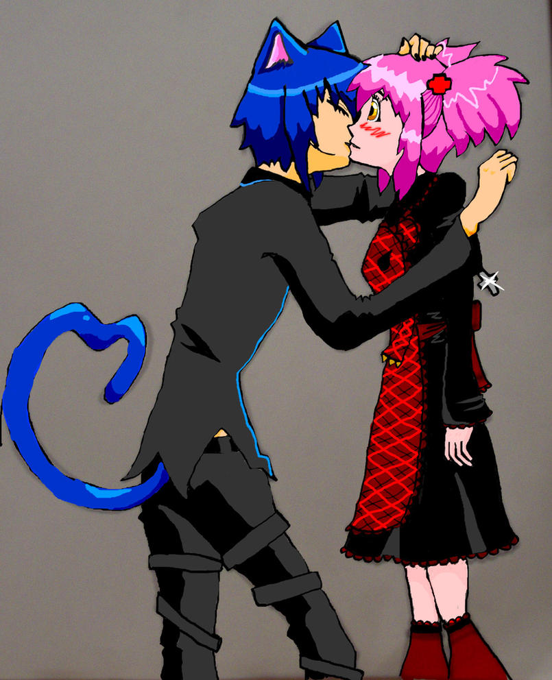 Ikuto And Amu Kiss Scene Ikuto Kissing Amu by Purinsu