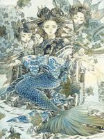 Oiran Mermaid by kaizbow