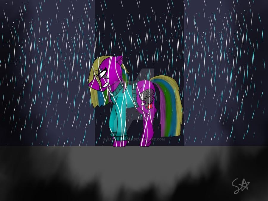 Rainy blues by Hayzthewolf