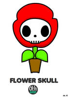 OHS: Flower Skull by Yo-Bonewire-Boy