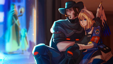 mccree and mercy by limach-an