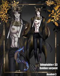 [open] Adoptable # 33 golden serpent