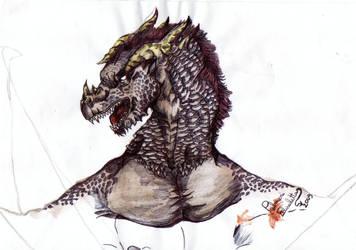 Shadow - a black dragon by FuriarossaAndMimma