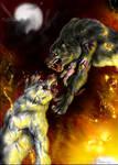 Werewolves fight