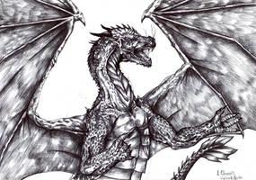 Old art - a dragon by FuriarossaAndMimma