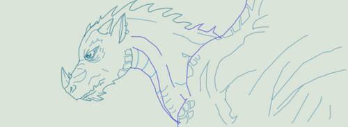 Drago azzurro by FuriarossaAndMimma