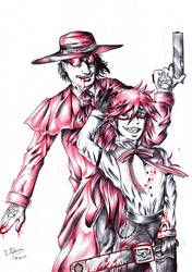 Grell and Alucard-red ribbons by FuriarossaAndMimma