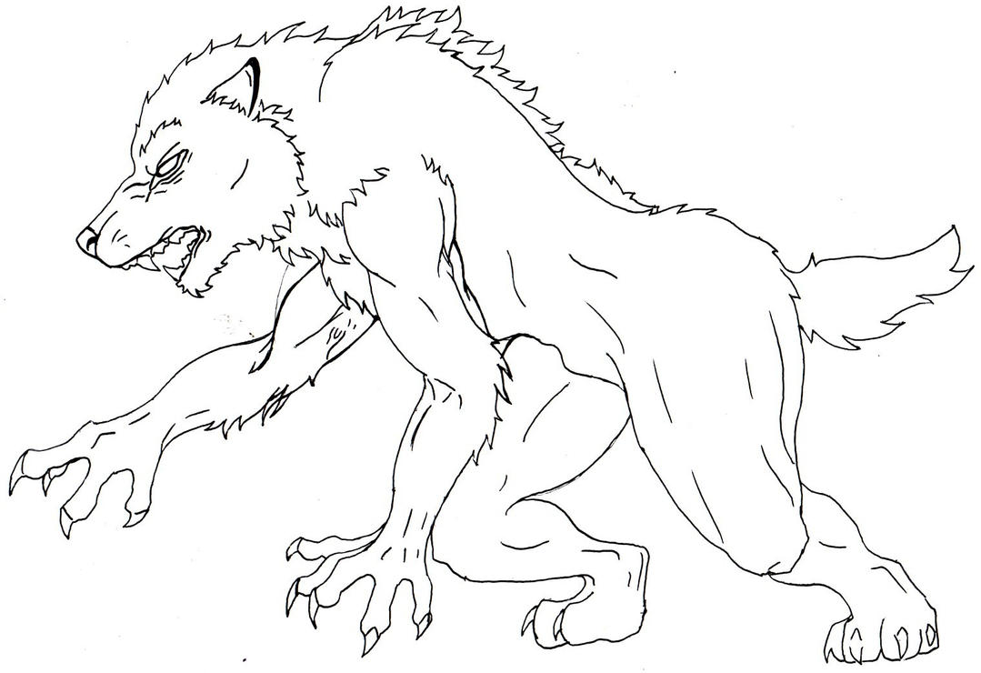 werewolf coloring pages - photo#20