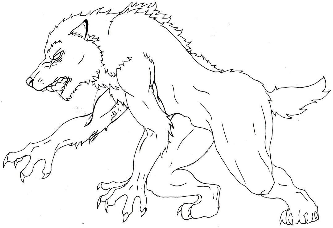 free werewolf lineart by furiarossaandmimma on deviantart