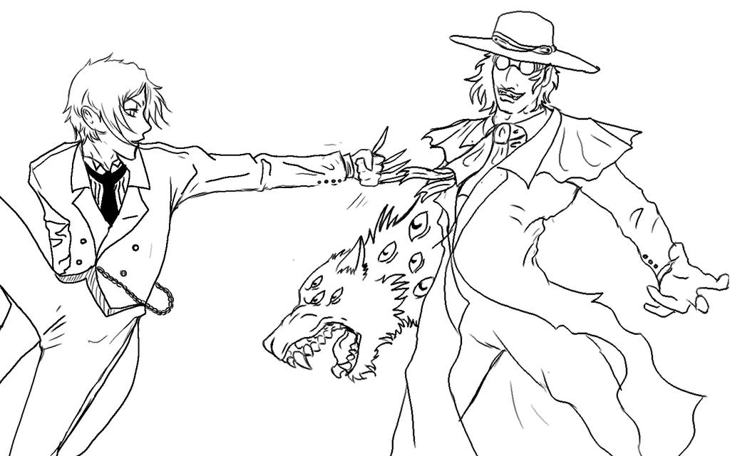 black butler hellsing lineart by furiarossaandmimma - Black Butler Chibi Coloring Pages