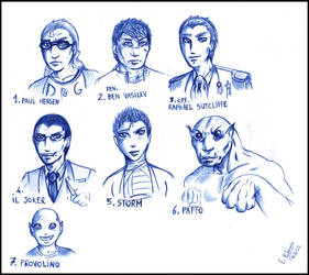 Characters sketch 2 by FuriarossaAndMimma