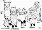 WWE Animalz lineart