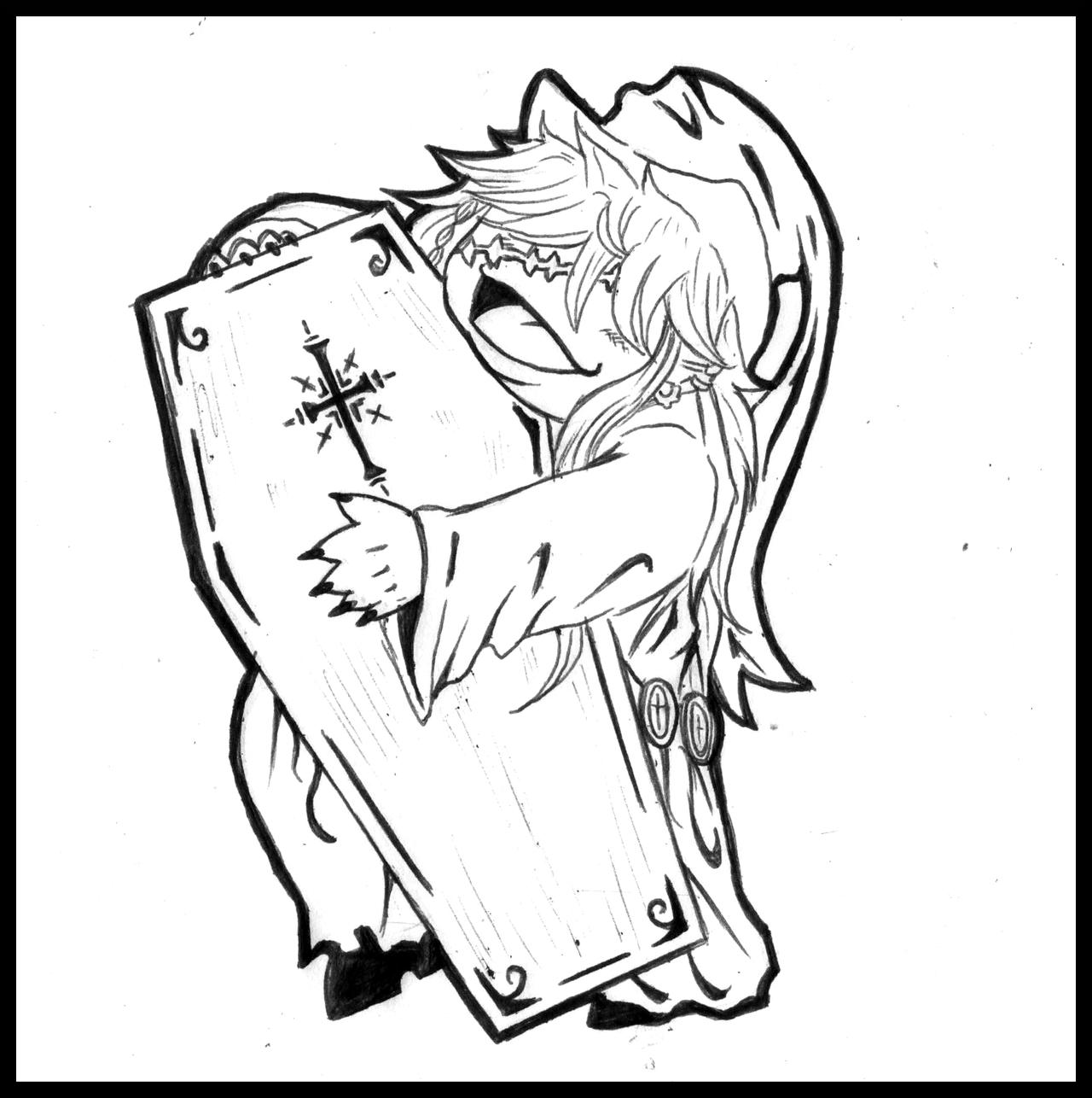 black butler undertaker coloring pages