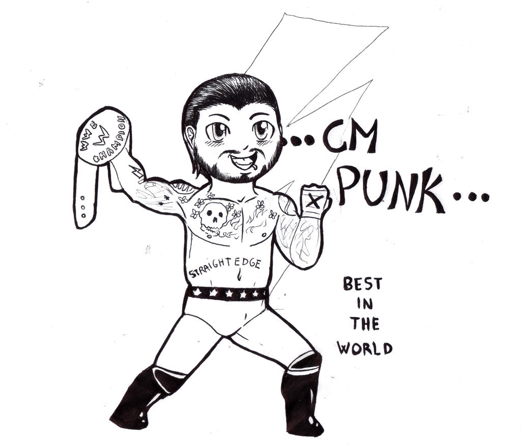 Cm Punk Chibi Lineart By Furiarossaandmimma On Deviantart Cm Coloring Pages