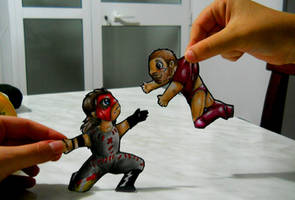 Paperchild 32. Kane and Daniel Bryan by FuriarossaAndMimma