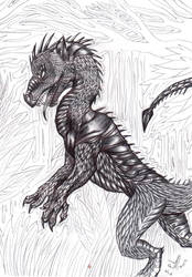 Young Jungle Wingless Dragon by FuriarossaAndMimma
