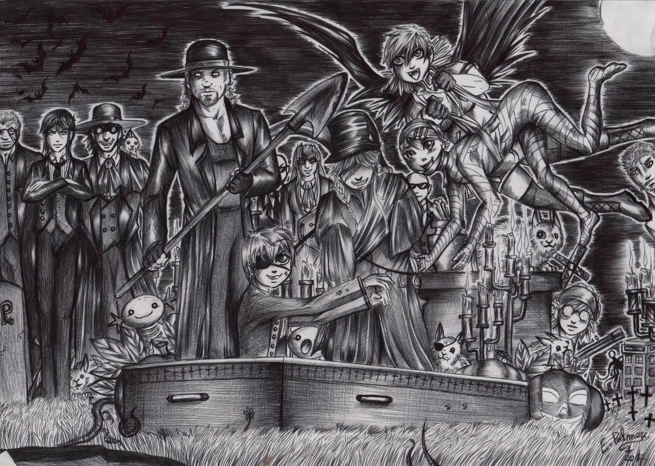 Kuroshihellsing halloween 2012 by FuriarossaAndMimma