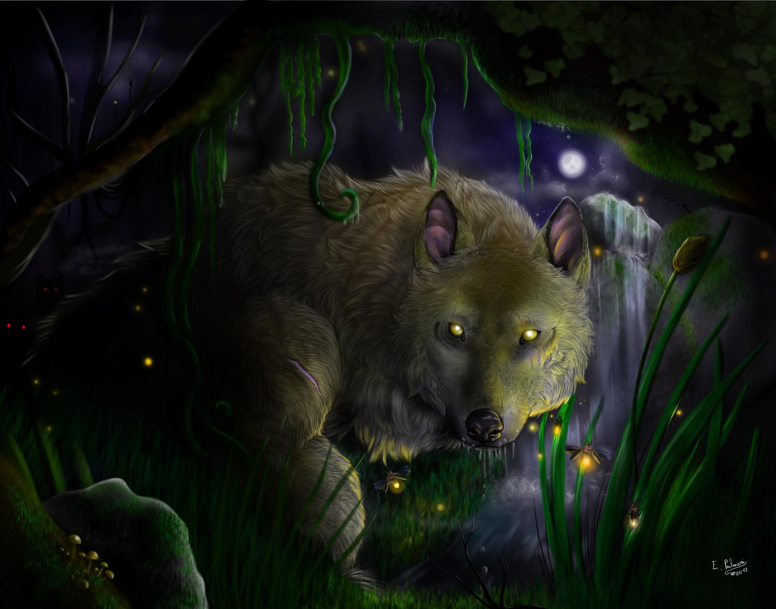 Surprised in the night - Werewolf by FuriarossaAndMimma