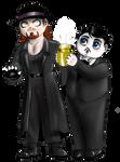 WWE - Chibi Undertaker and Paul Bearer
