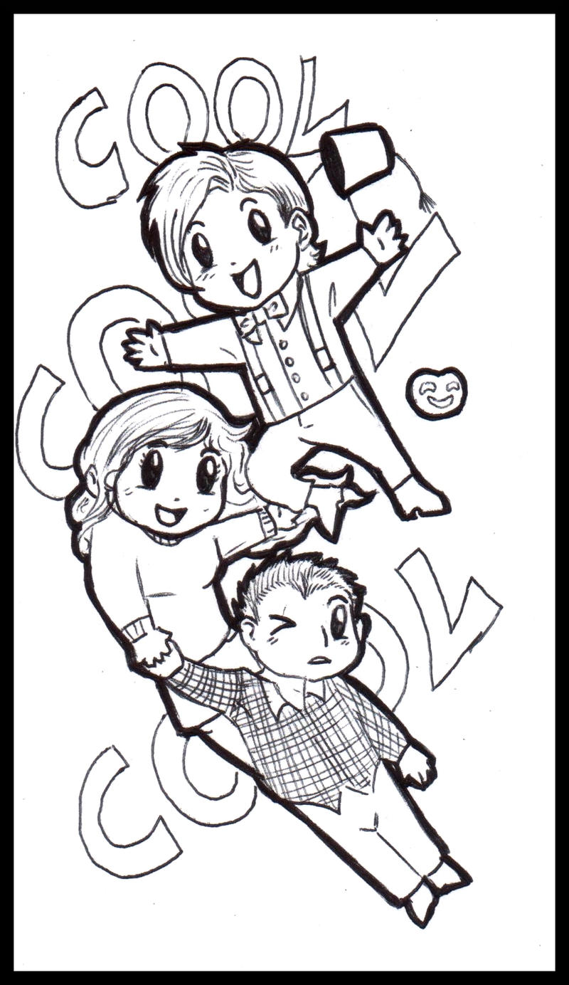 Team TARDIS and Eleventh Doctor by FuriarossaAndMimma