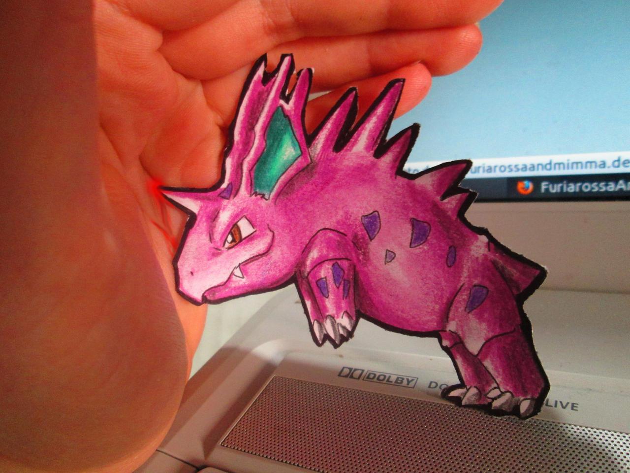 Paperchild 89. Pokemon#33 - Nidorino by FuriarossaAndMimma