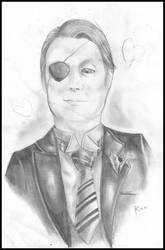 Mads Mikkelsen as adult Ciel Phantomhive XD by FuriarossaAndMimma