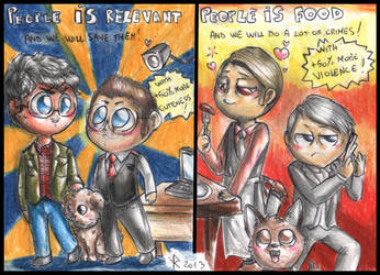 POI and Hannibal - Exchange of partners by FuriarossaAndMimma