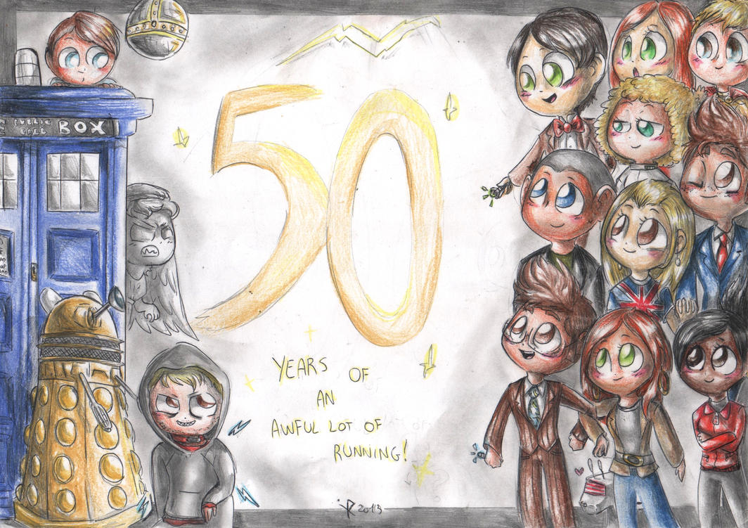 50 years of Doctor Who by FuriarossaAndMimma