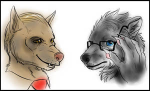 Hannibal - Lecter and Graham werewolves