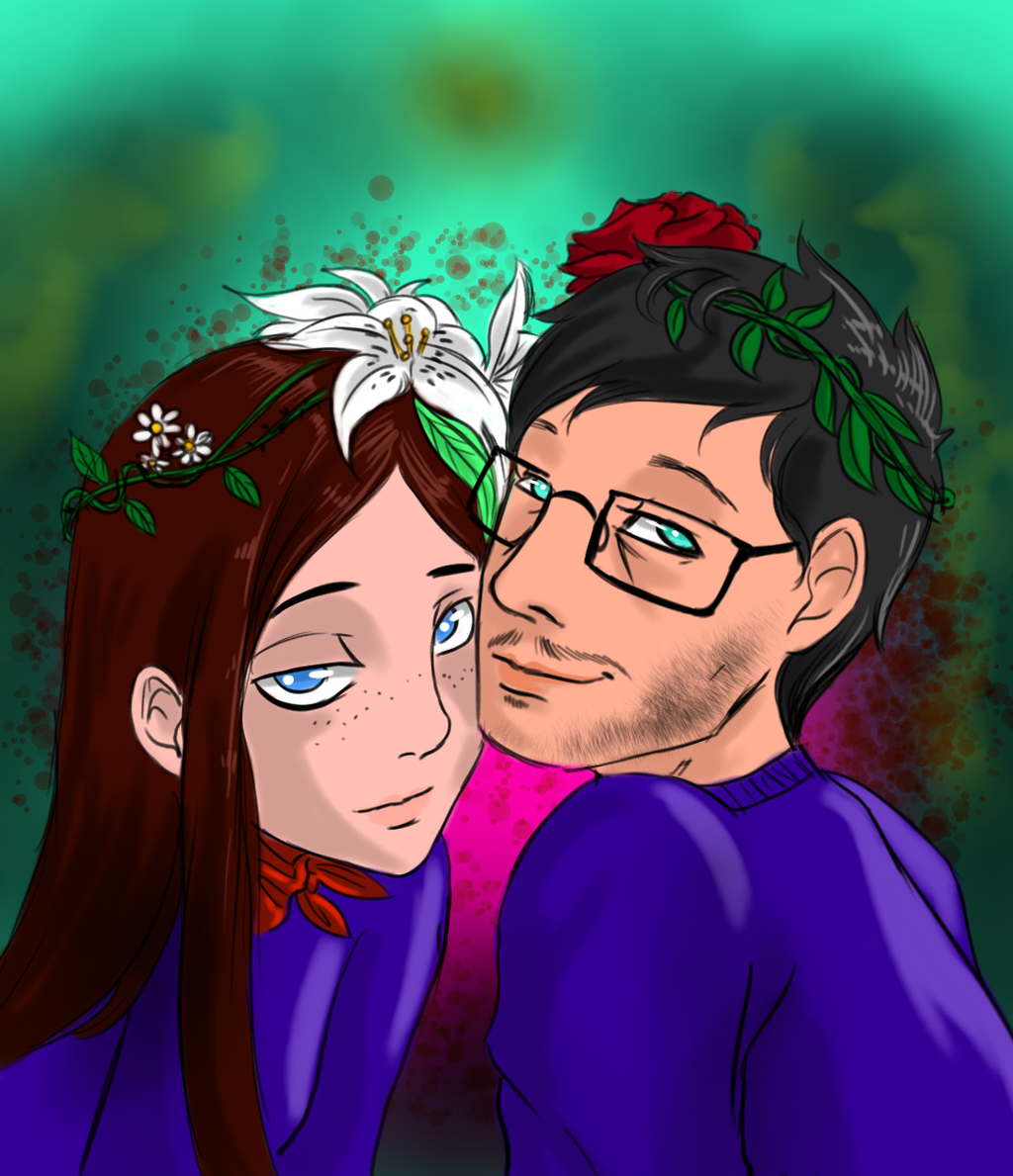Another hannibal artblog abigail and will with flower crowns abigail and will with flower crowns izmirmasajfo