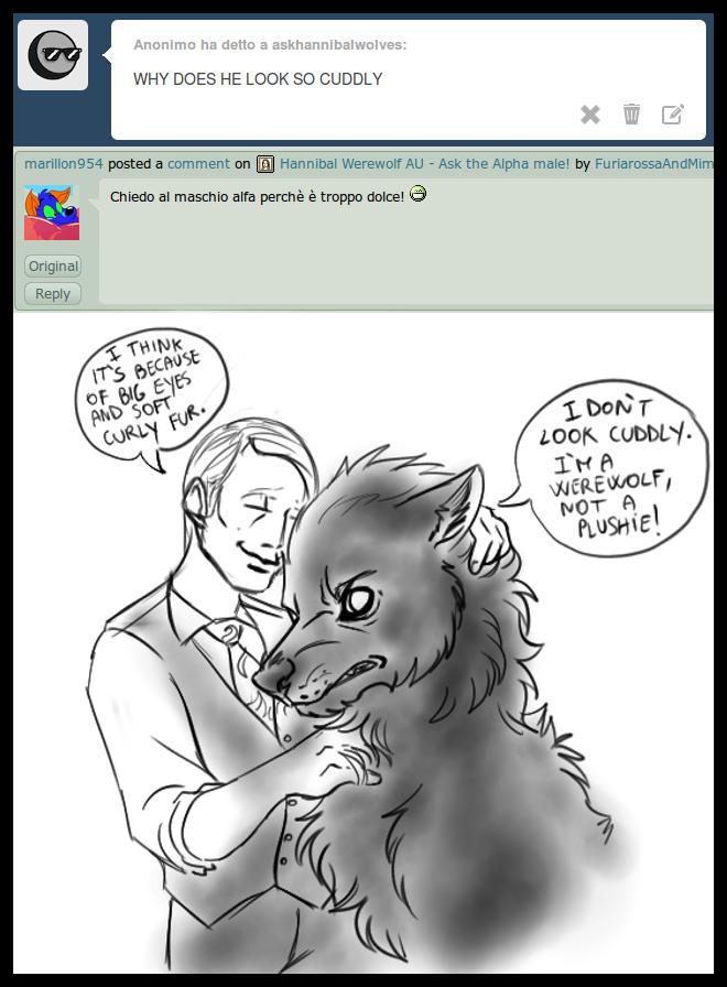 Hannibal Werewolf AU - Question 1 by FuriarossaAndMimma