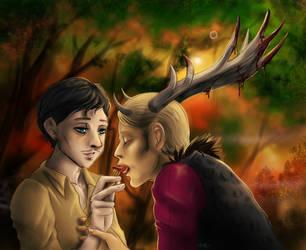 Hannibal - Feeding the Wendigo by FuriarossaAndMimma