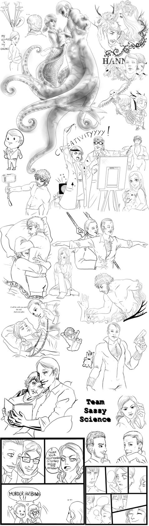 Hannibal sketches 23 by FuriarossaAndMimma