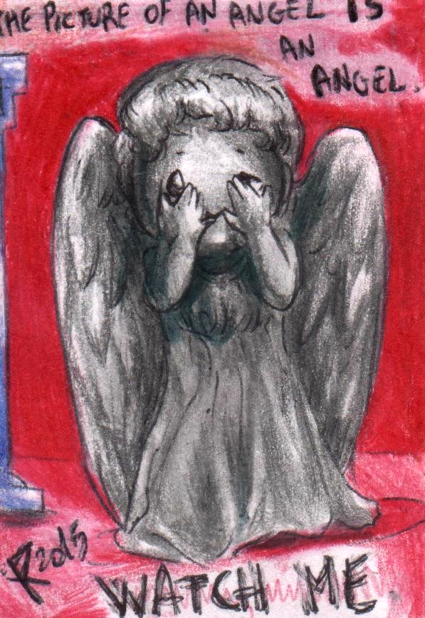 Chibi Weeping Angel by FuriarossaAndMimma
