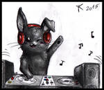 Chibi Commission - Dj Black Rabbit by FuriarossaAndMimma
