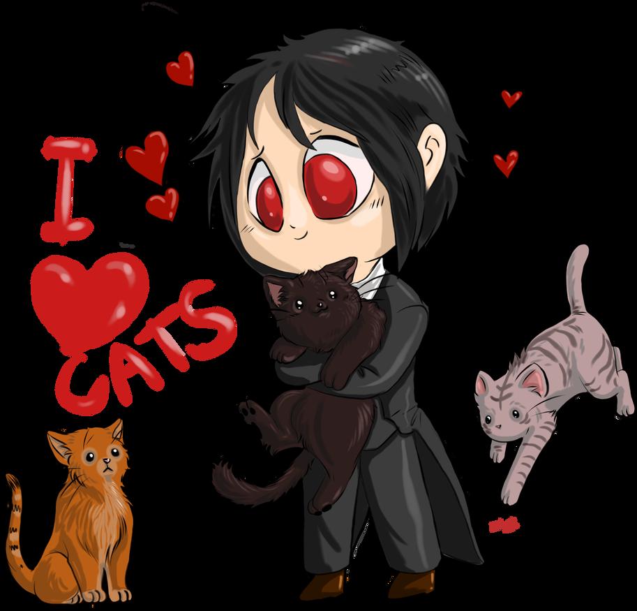 Chibi Sebastian Michaelis - I love cats by ...