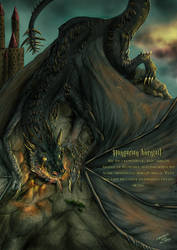 Dictionary of magic - The Hungarian horntail by FuriarossaAndMimma