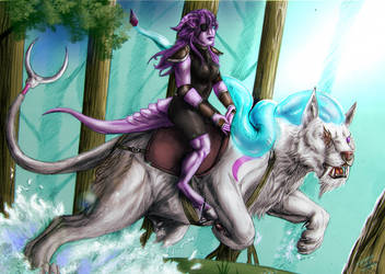Commission - Riding the beast by FuriarossaAndMimma