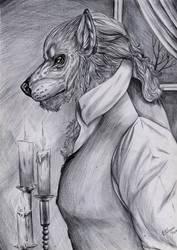 Werewolf gentleman - BW by FuriarossaAndMimma