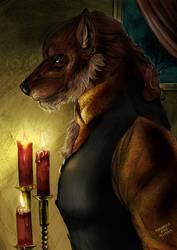 Werewolf gentleman by FuriarossaAndMimma